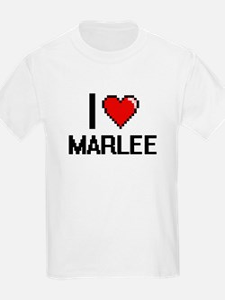 I Love Marlee Digital Retro Design T-Shirt