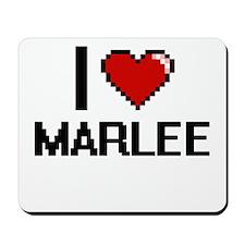 I Love Marlee Digital Retro Design Mousepad