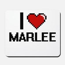 I Love Marlee Digital Retro Design Mousepad