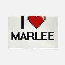 I Love Marlee Digital Retro Design Magnets