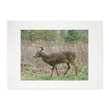 Whitetail buck 5'x7'Area Rug