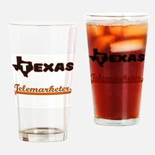 Texas Telemarketer Drinking Glass