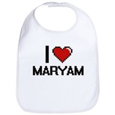 I Love Maryam Digital Retro Design Bib