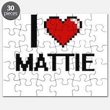 I Love Mattie Digital Retro Design Puzzle