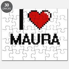 I Love Maura Digital Retro Design Puzzle