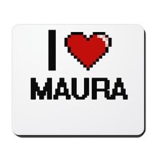 I Love Maura Digital Retro Design Mousepad