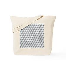 Illustrated Tumbling Blocks Tote Bag