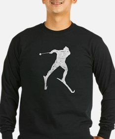 Vintage Cross Country Skier Long Sleeve T-Shirt