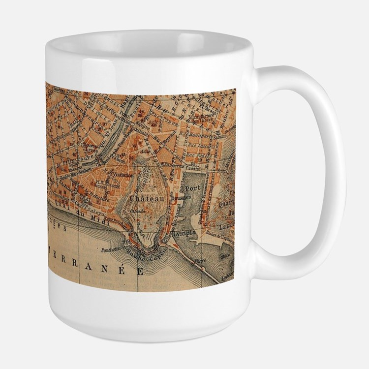 Vintage Map of Nice France (1914) Mugs