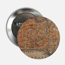 """Vintage Map of Nice France 2.25"""" Button (10 pack)"""