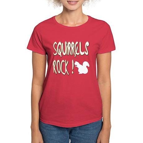 Squirrels Rock ! Women's Dark T-Shirt