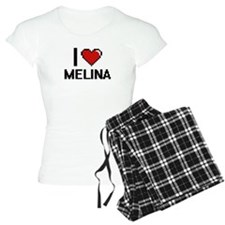 I Love Melina Digital Retro Pajamas