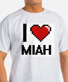I Love Miah Digital Retro Design T-Shirt