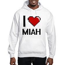 I Love Miah Digital Retro Design Hoodie
