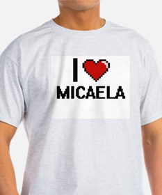 I Love Micaela Digital Retro Design T-Shirt