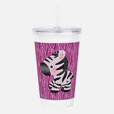 Baby Zebra For Kids Acrylic Double-wall Tumbler