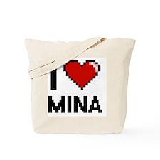 I Love Mina Digital Retro Design Tote Bag