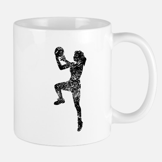 Vintage Womens Basketball Player Mugs