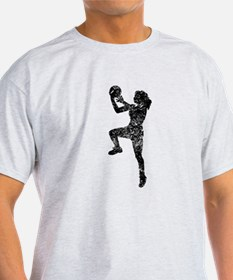 Vintage Womens Basketball Player T-Shirt