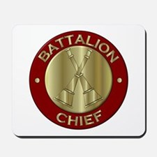 battalion chief brass fire department Mousepad