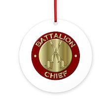 battalion chief brass fire depart Ornament (Round)