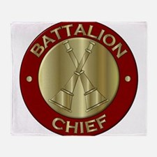 battalion chief brass fire departmen Throw Blanket