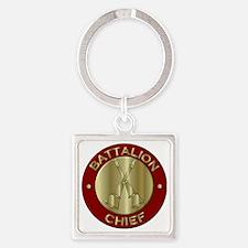 battalion chief brass fire department Keychains