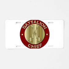 battalion chief brass fire Aluminum License Plate