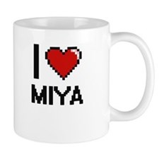 I Love Miya Digital Retro Design Mugs