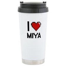 I Love Miya Digital Ret Travel Coffee Mug