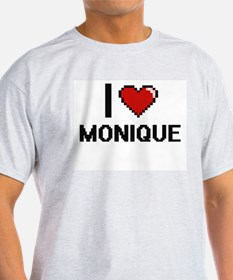 I Love Monique Digital Retro Design T-Shirt