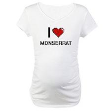 I Love Monserrat Digital Retro D Shirt