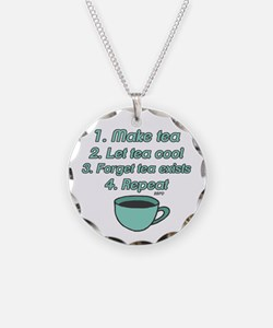 Tea Lover Humor Necklace
