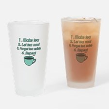 Tea Lover Humor Drinking Glass