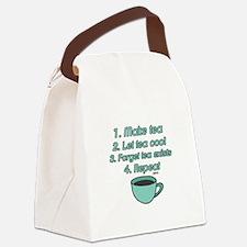 Tea Lover Humor Canvas Lunch Bag
