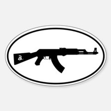 AK Oval with Snake Decal