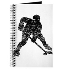 Vintage Hockey Player Journal