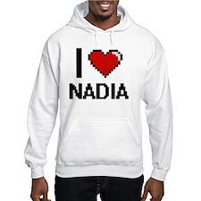 I Love Nadia Digital Retro Desig Hoodie Sweatshirt