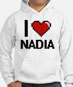 I Love Nadia Digital Retro Desig Hoodie Sweatshirt