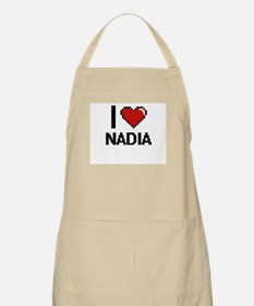 I Love Nadia Digital Retro Design Apron