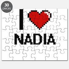 I Love Nadia Digital Retro Design Puzzle