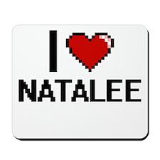 I Love Natalee Digital Retro Design Mousepad
