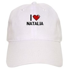 I Love Natalia Digital Retro Design Baseball Cap