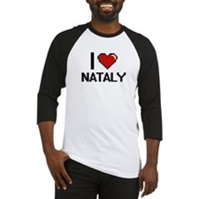 I Love Nataly Digital Retro Design Baseball Jersey