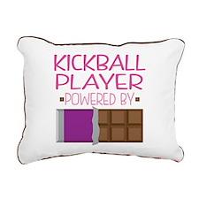 Kickball Player Rectangular Canvas Pillow