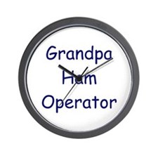 Grandpa Ham Operator Wall Clock