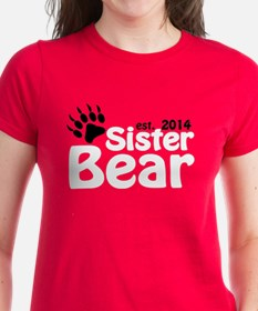 Sister Bear Est 2014 Women's Dark T-Shirt