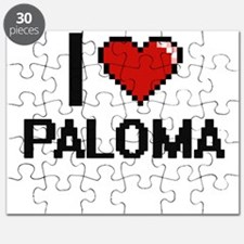 I Love Paloma Digital Retro Design Puzzle