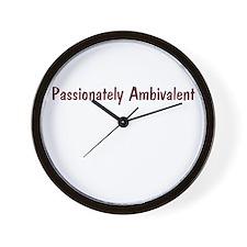 Passionately Ambivalent Wall Clock