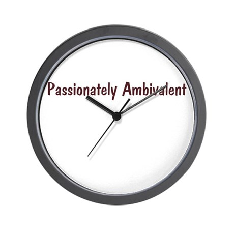 Passionately Ambivalent Wall Clock
